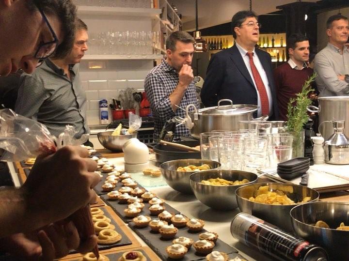 El servicio de coctel show cooking