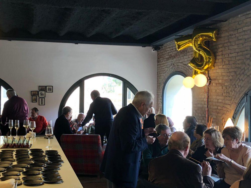 Cóctel celebración 75 cumpleaños
